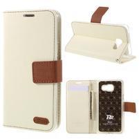 Roarlux peňaženkové puzdro pre Samsung Galaxy A5 (2016) - biele