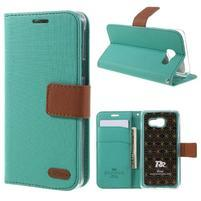 Roarlux peňaženkové puzdro pre Samsung Galaxy A5 (2016) - zelené