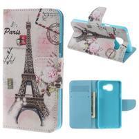 Softy peňaženkové puzdro pre Samsung Galaxy A5 (2016) - Eiffelova veža