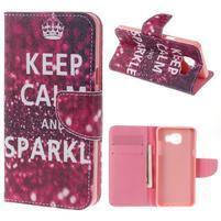 Softy peňaženkové puzdro pre Samsung Galaxy A5 (2016) - Keep Calm