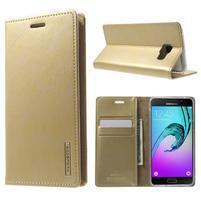 Moon PU kožené puzdro pre Samsung Galaxy A5 (2016) - zlaté