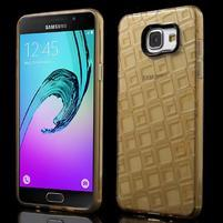Square gélový obal pre mobil Samsung Galaxy A5 (2016) - zlatý