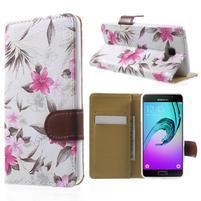Květinové peněženkové pouzdro na Samsung Galaxy A5 (2016) - bílé