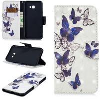 Patt PU kožené flipové puzdro na Samsung Galaxy J4+ - drobné motýliky