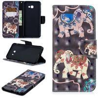 Patt PU kožené flipové puzdro na Samsung Galaxy J4+ - slon