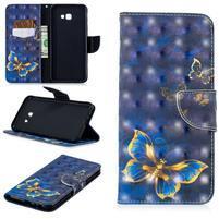 Patt PU kožené flipové puzdro na Samsung Galaxy J4+ - elegantní motýl