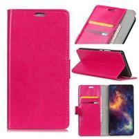 Crazy PU kožené peňaženkové puzdro na Samsung Galaxy J4+ - rose