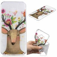 Soft gélový kryt na mobil Samsung Galaxy J4+ - kvetinový jeleň