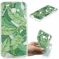 Soft gélový kryt na mobil Samsung Galaxy J4+ - zelené listí