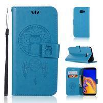 Dream PU kožené peňaženkové puzdro na Samsung Galaxy J4+ - modré