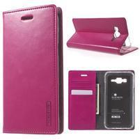 Moon PU kožené puzdro pre Samsung Galaxy J5 - rose