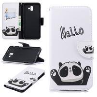 Patt PU kožené puzdro na mobil Samsung Galaxy J6+ - hello panda