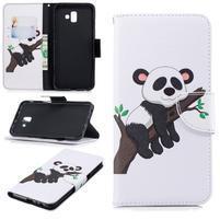 Patt PU kožené puzdro na mobil Samsung Galaxy J6+ - panda na strome