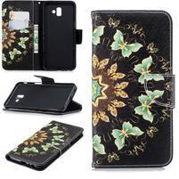 Patt PU kožené puzdro na mobil Samsung Galaxy J6+ - motýliky
