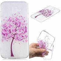 Print gélový obal na mobil Samsung Galaxy J6+ - ružový strom