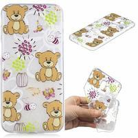 Print gélový obal na mobil Samsung Galaxy J6+ - medvedíky