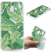 Print gélový obal na mobil Samsung Galaxy J6+ - zelené listy