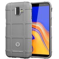 Square gélový obal na mobil Samsung Galaxy J6+ - sivý