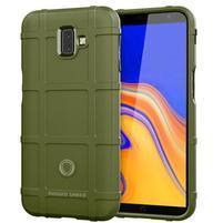 Square gélový obal na mobil Samsung Galaxy J6+ - zelený