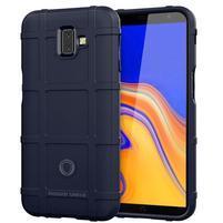 Square gélový obal na mobil Samsung Galaxy J6+ - tmavomodrý