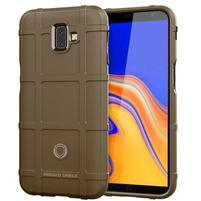 Square gélový obal na mobil Samsung Galaxy J6+ - hnedý