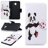 Patt PU kožené puzdro na mobil Samsung Galaxy J6+ - futbalová panda