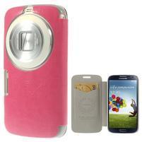 Růžové peňaženkové puzdro na Samsung Galaxy K Zoom C115