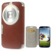 hnedé peňaženkové puzdro pre Samsung Galaxy K Zoom C115