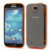 Obal pre mobil se svítícími hranami pre Samsung Galaxy S4 - oranžové
