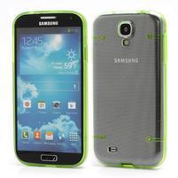 Obal pre mobil se svítícími hranami pre Samsung Galaxy S4 - zelené