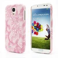 Kvetinové puzdro pre Samsung Galaxy S4 - ružové