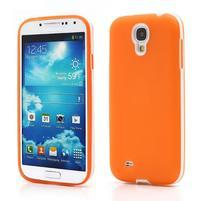 Gelové pouzdro 2v1 na Samsung Galaxy S4 - oranžové