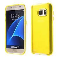 Dvoudielný obal pre mobil Samsung Galaxy S7 - žltý