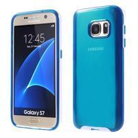 Dvoudielný obal pre mobil Samsung Galaxy S7 - modrý