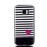 Sally gélový obal pre Samsung Galaxy S7 - srdce
