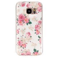 Gelový kryt na mobil Samsung Galaxy S7 - květiny