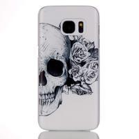 Plastový obal pre mobil Samsung Galaxy S7 - lebka