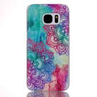 Plastový obal pre mobil Samsung Galaxy S7 - mandala