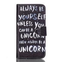 Cross peňaženkové puzdro pre Samsung Galaxy S7 - unicorn