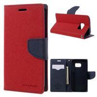 Goosper PU kožené puzdro pre Samsung Galaxy S7 - červené