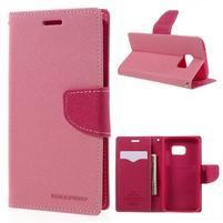Goosper PU kožené pouzdro na Samsung Galaxy S7 - růžové