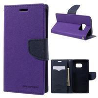 Goosper PU kožené puzdro pre Samsung Galaxy S7 - fialové