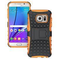 Outdoor odolný obal pre mobil Samsung Galaxy S7 - oranžový