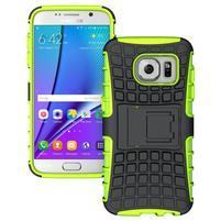 Outdoor odolný obal pre mobil Samsung Galaxy S7 - zelený