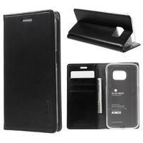 Bluemoon PU kožené puzdro pre mobil Samsung Galaxy S7 - čierne