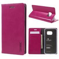 Bluemoon PU kožené puzdro pre mobil Samsung Galaxy S7 - rose