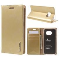 Bluemoon PU kožené puzdro pre mobil Samsung Galaxy S7 - zlaté