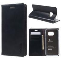 Bluemoon PU kožené puzdro pre mobil Samsung Galaxy S7 - tmavomodré