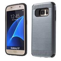 Dvojdielny odolný kryt pre Samsung Galaxy S7 - šedý