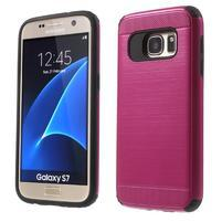 Dvojdielny odolný kryt pre Samsung Galaxy S7 - rose